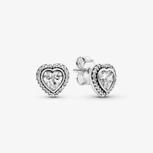 Pandora Sparkling Heart Stud Earrings
